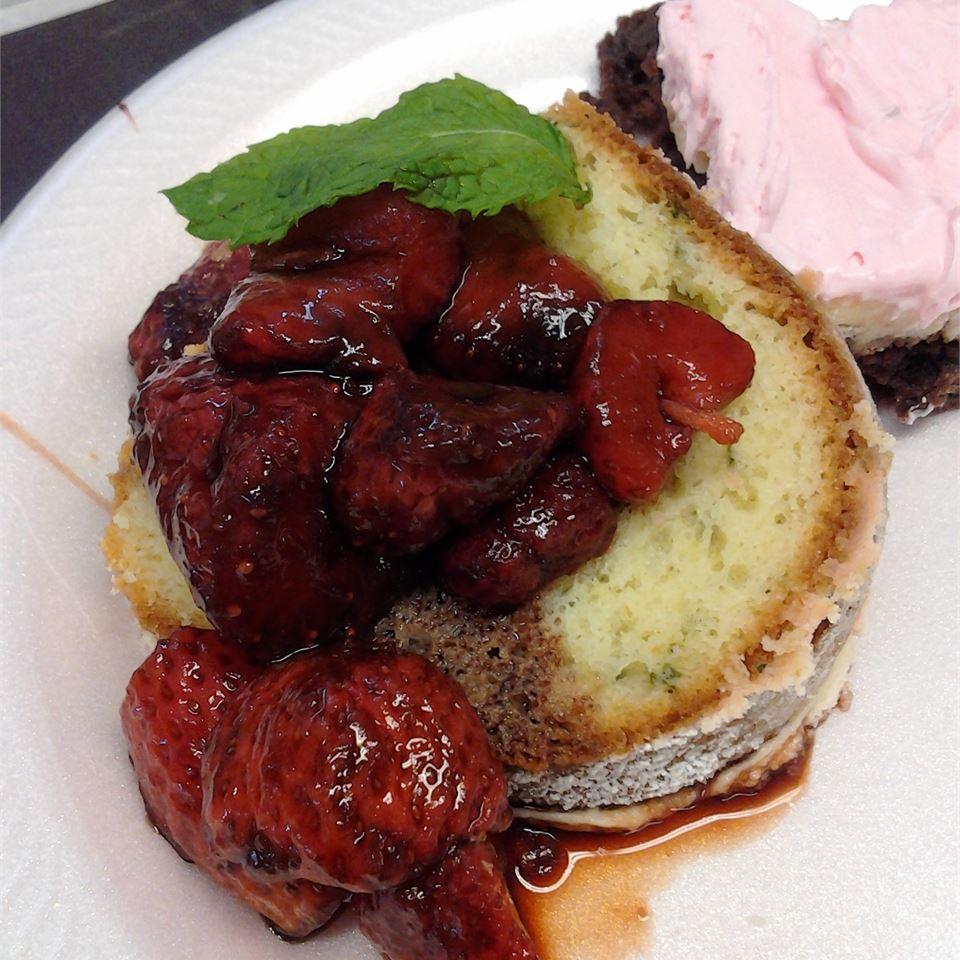Basil Cake with Balsamic Strawberries