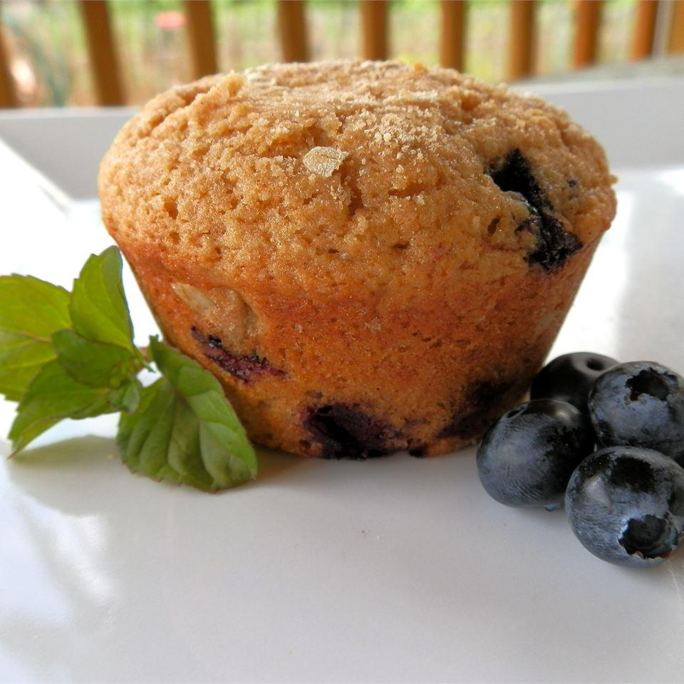 Whole Wheat Blueberry Muffins - Printer Friendly