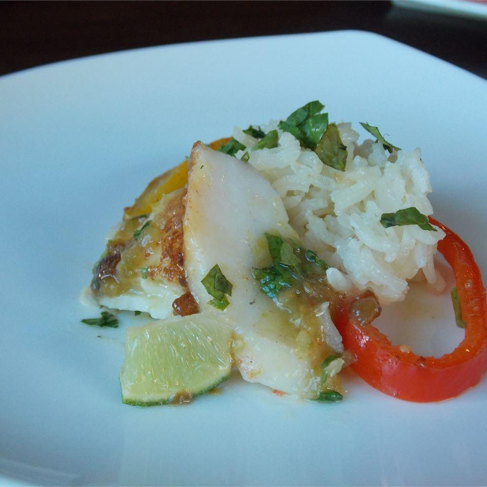Basa Fillets in Tomatillo Sauce