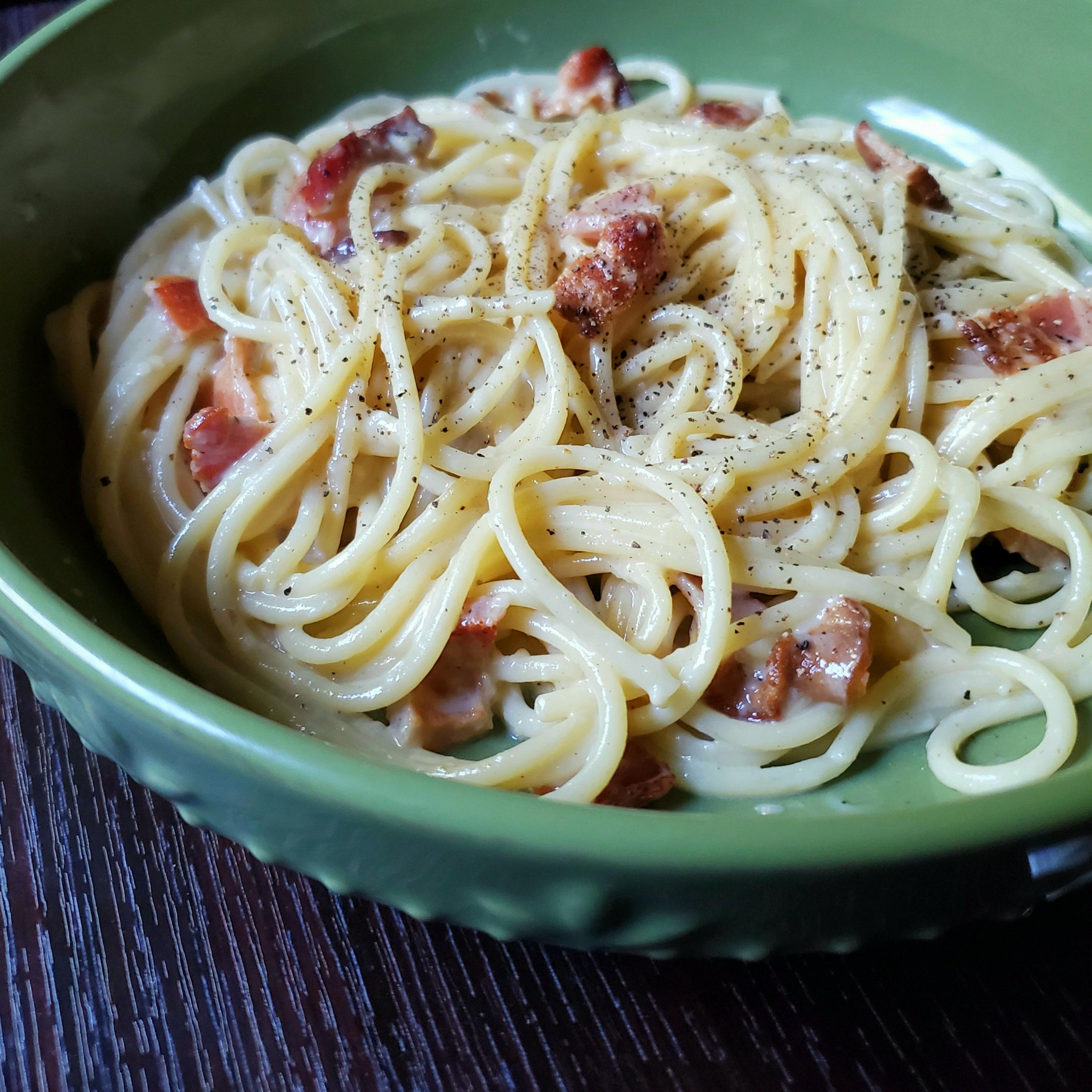 Italian Carbonara with Bacon_image
