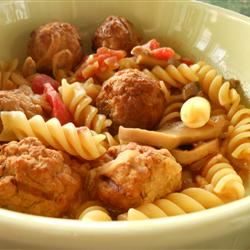 Meatball Noodle Onion Stoup SunnyDaysNora
