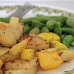 Fried Yellow Squash with Potatoes and Onions ehreng