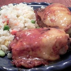 Grilled Chicken with Spicy Mango Glaze SB