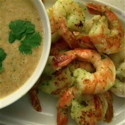 Grilled Prawns with a Spicy Peanut-Lime Vinaigrette