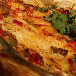 Potatoes Au Gratin with Fennel and Bacon TX_Brad