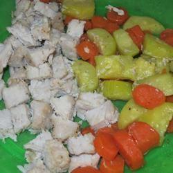 Foil-Baked Pork Chops and Veggies