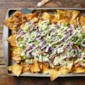 Asian Pork Nachos with Wasabi Cream