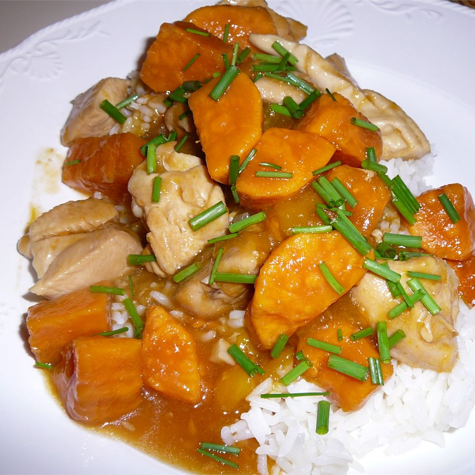 Spicy Mango Sweet Potato Chicken