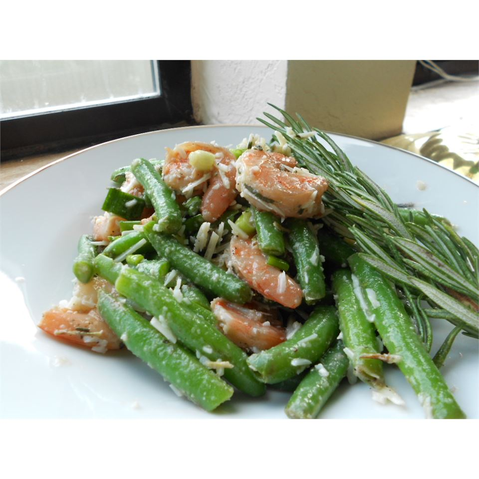 Garlic Lover's Shrimp and Green Bean Salad - Printer Friendly