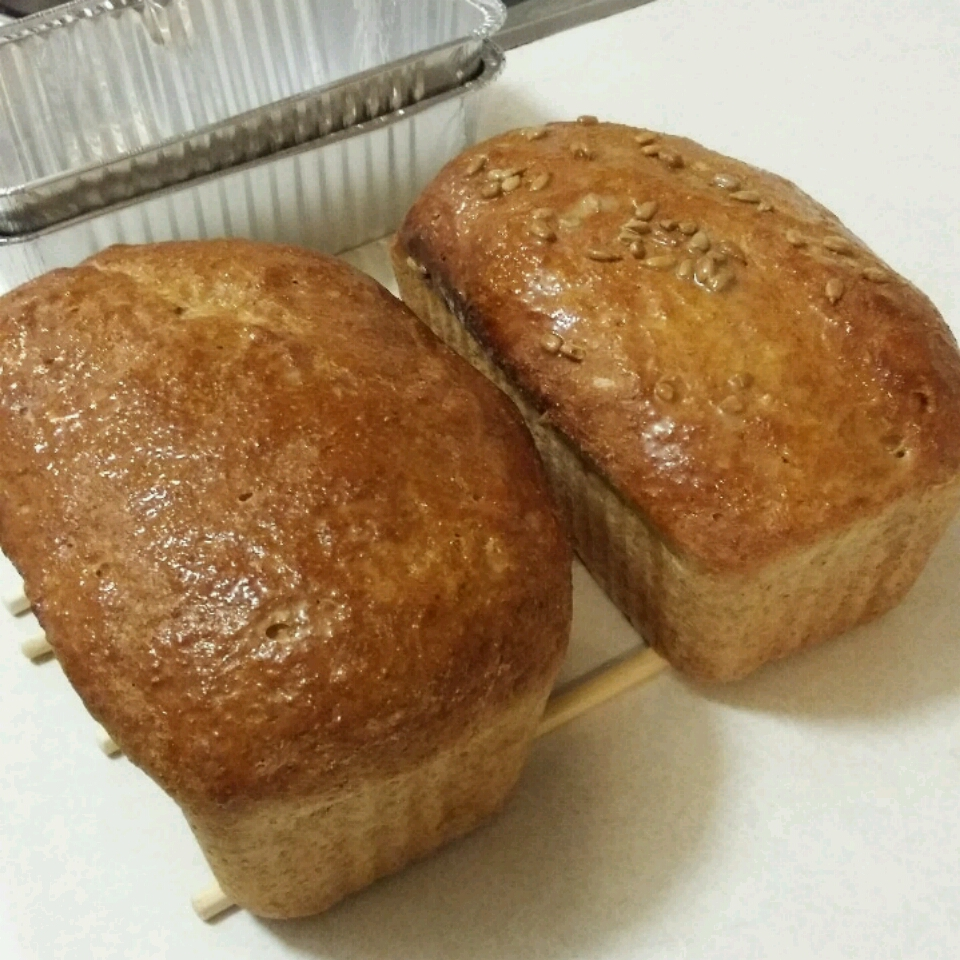 Easy 100% Whole Wheat Bread_image