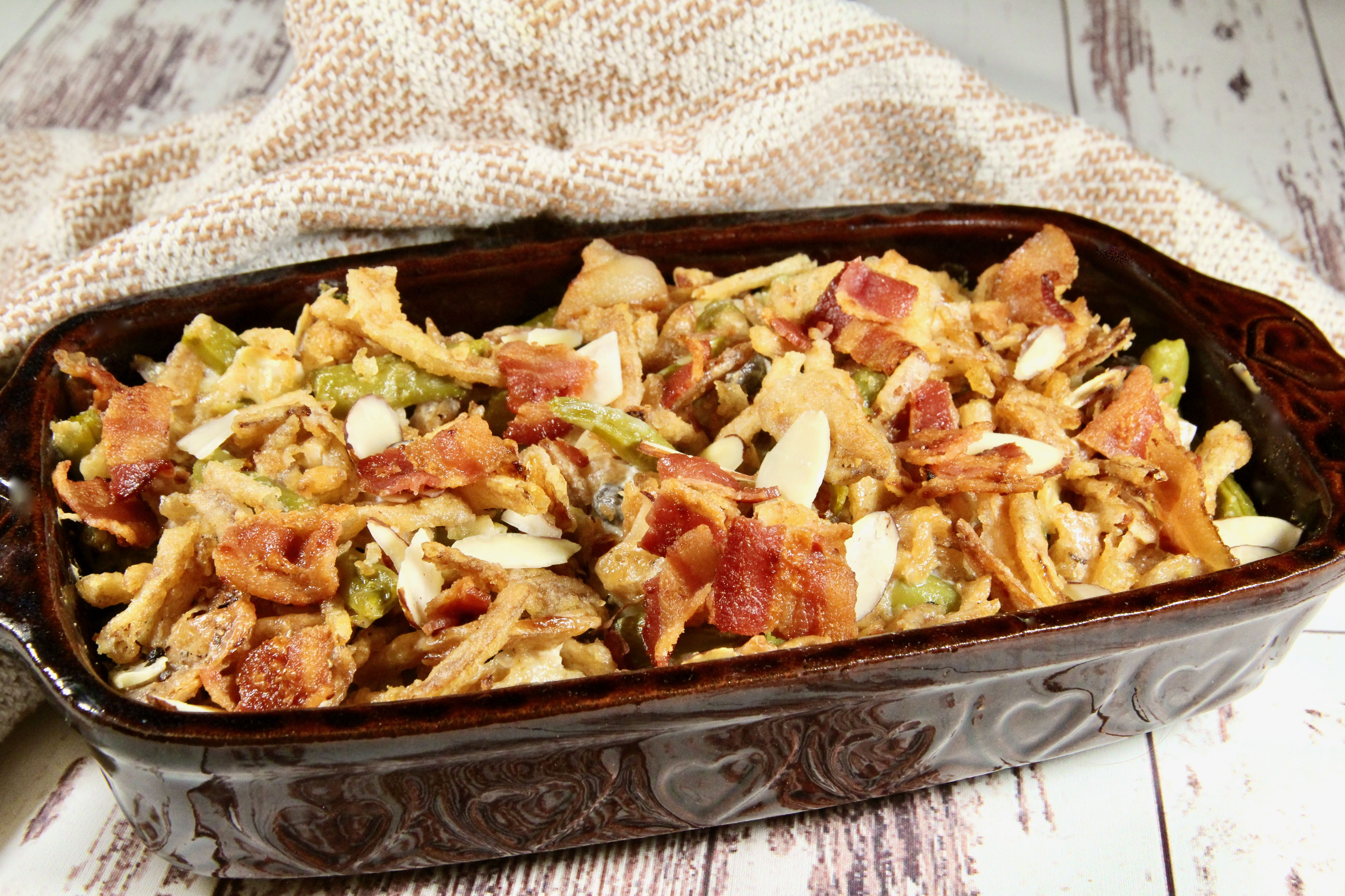 Bacon and Almond Green Bean Casserole_image