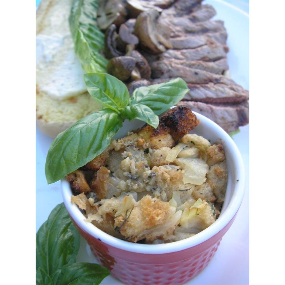 Savory Gorgonzola Bread Pudding mauigirl