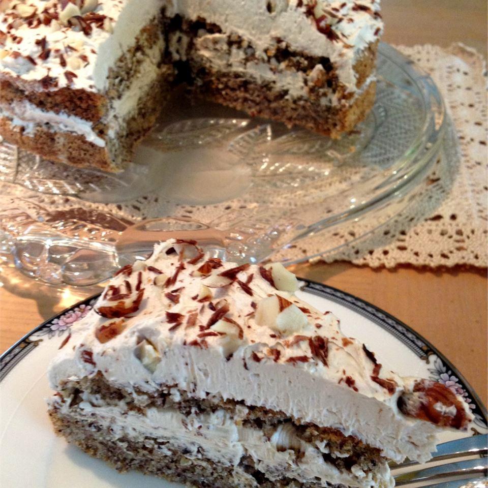Hungarian Flourless Hazelnut Cake image