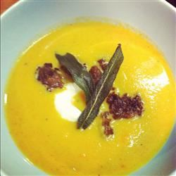 Butternut Squash Soup With Sage and Sausage Sarah Waltrip