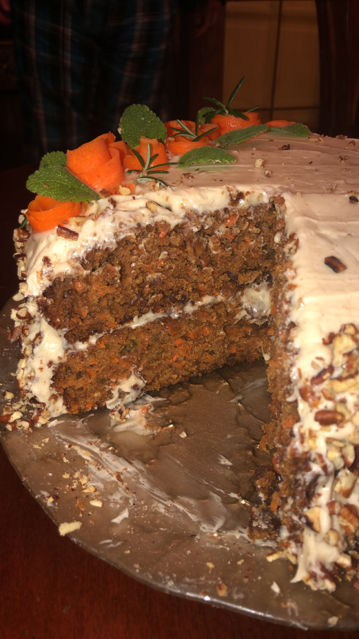 Carrot Cake with Chai-Flavored Cream Cheese Frosting image