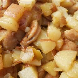 Sweet Breakfast Hash with Apple and Rosemary