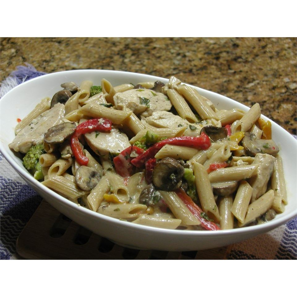 Roasted Garlic Chicken Penne Cathy Myers