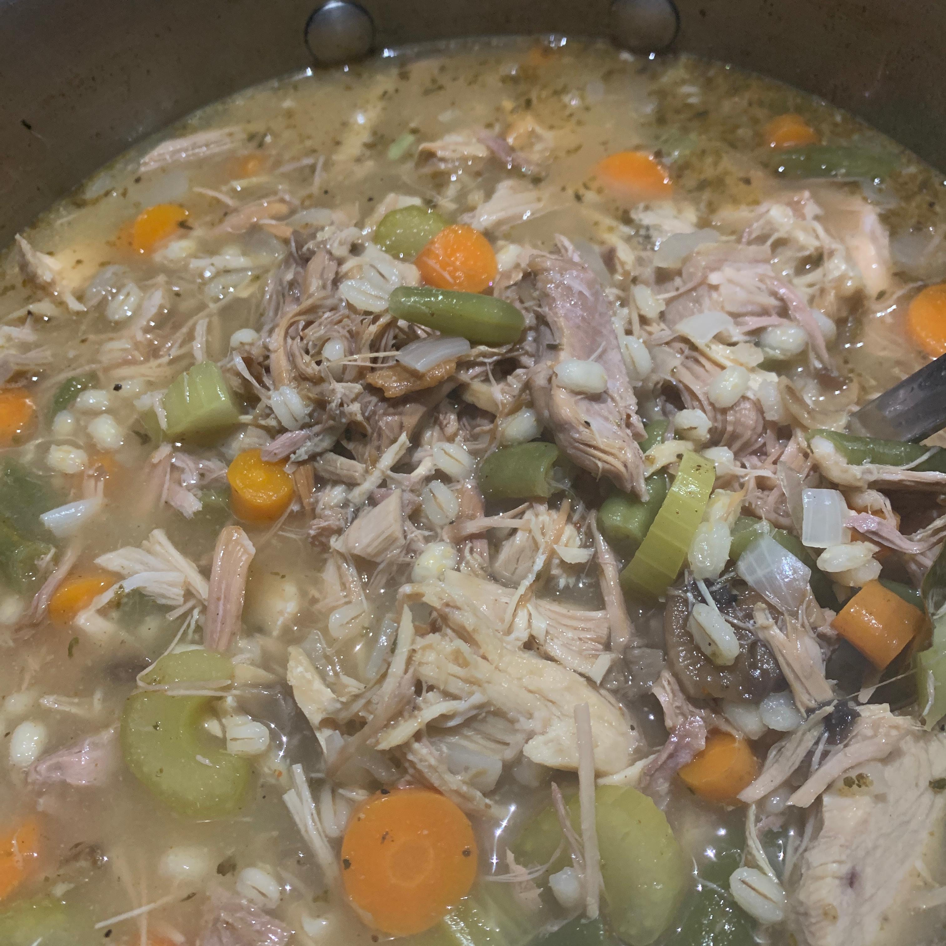 Hearty Barley Turkey Soup image