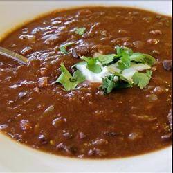 Black Bean and Tomato Soup