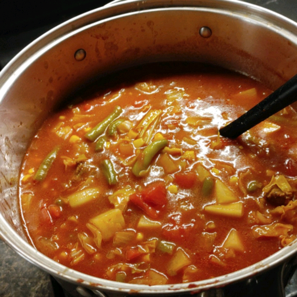 Homemade Vegetable Beef Soup_image