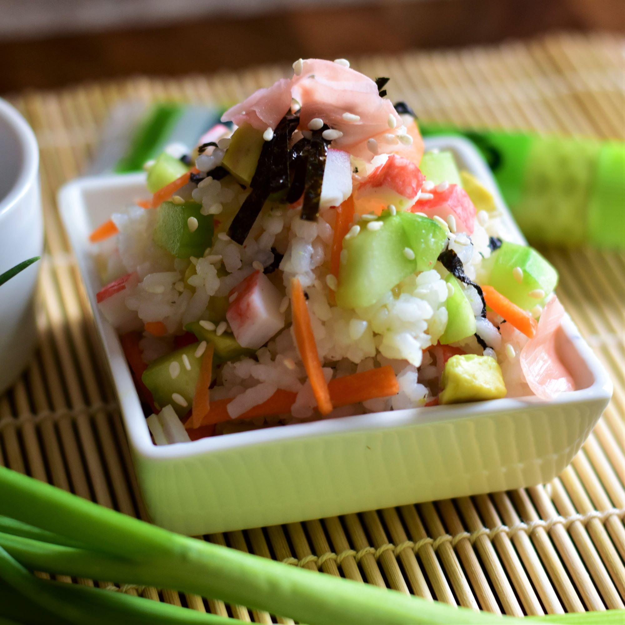 Easy California Roll Sushi Salad image