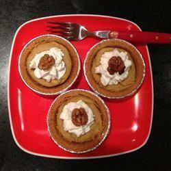 Mini Sweet Potato Pumpkin Pies
