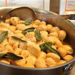 Sweet Potato Gnudi with Sage Butter