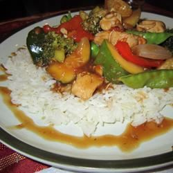 Orange Chicken and Vegetable Stir-Fry Farmercancook