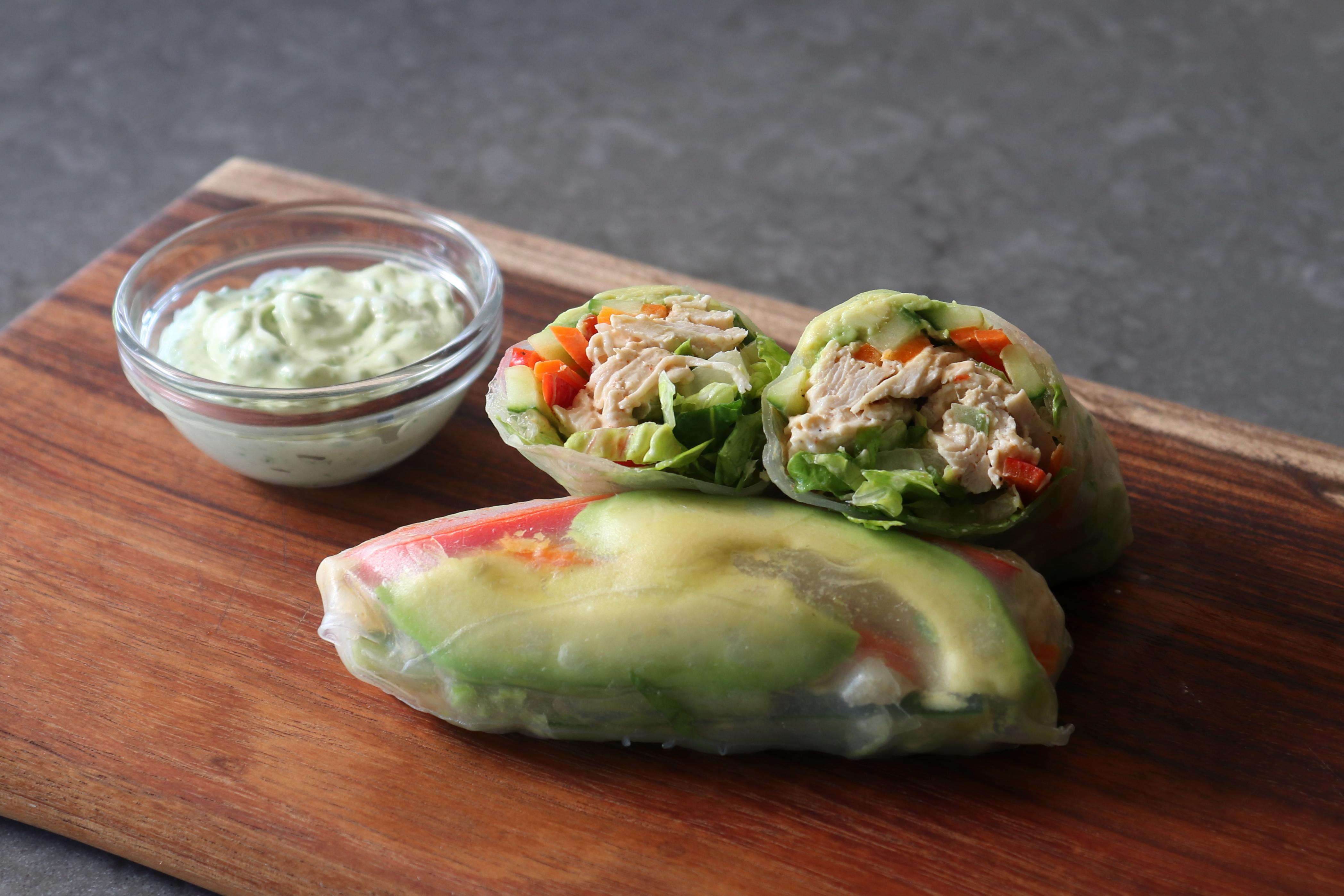 Chicken Salad Summer Rolls image