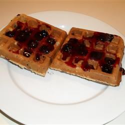 Blueberry Waffles with Fast Blueberry Sauce Snowflake