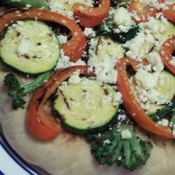 Individual Grilled Veggie Pizzas pomplemousse