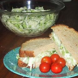 Zucchini Cucumber Salad image