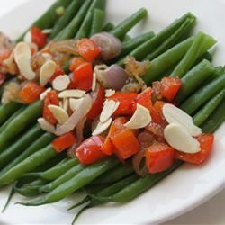 Green Beans with Almonds and Caramelized Shallots Jen