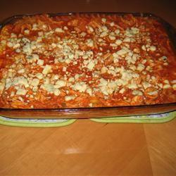 Buffalo Cheesy Chicken Lasagna