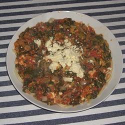 Flash-blasted Broccoli and Feta Pasta Chicken