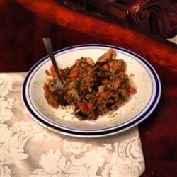Mediterranean Lamb and Lentil Stew
