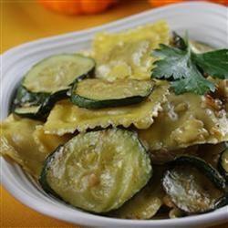 Zucchini with Mushroom Ravioli in Truffle Butter Sauce naples34102