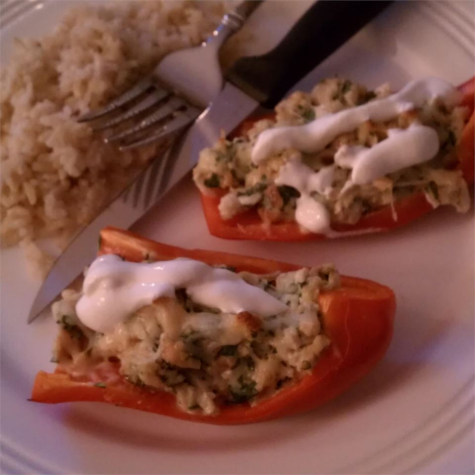 Dila's Chicken-Stuffed Peppers Diane