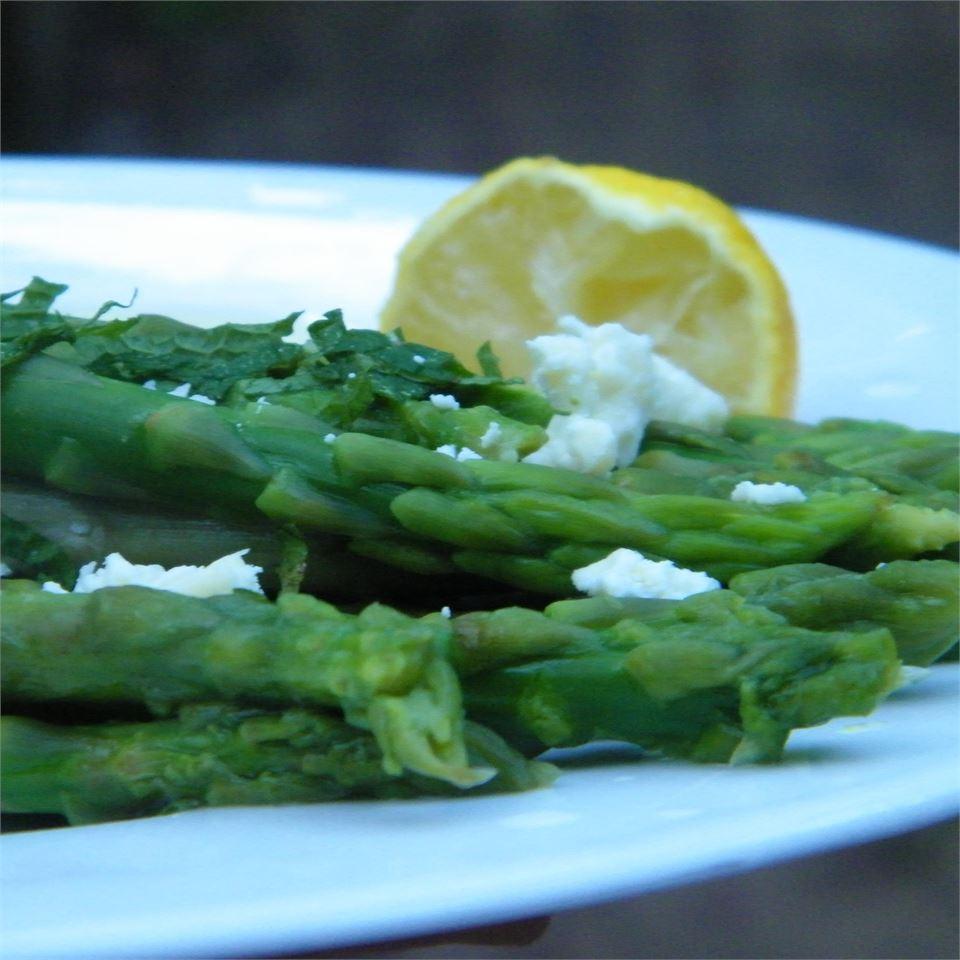 Minted Lemon Asparagus