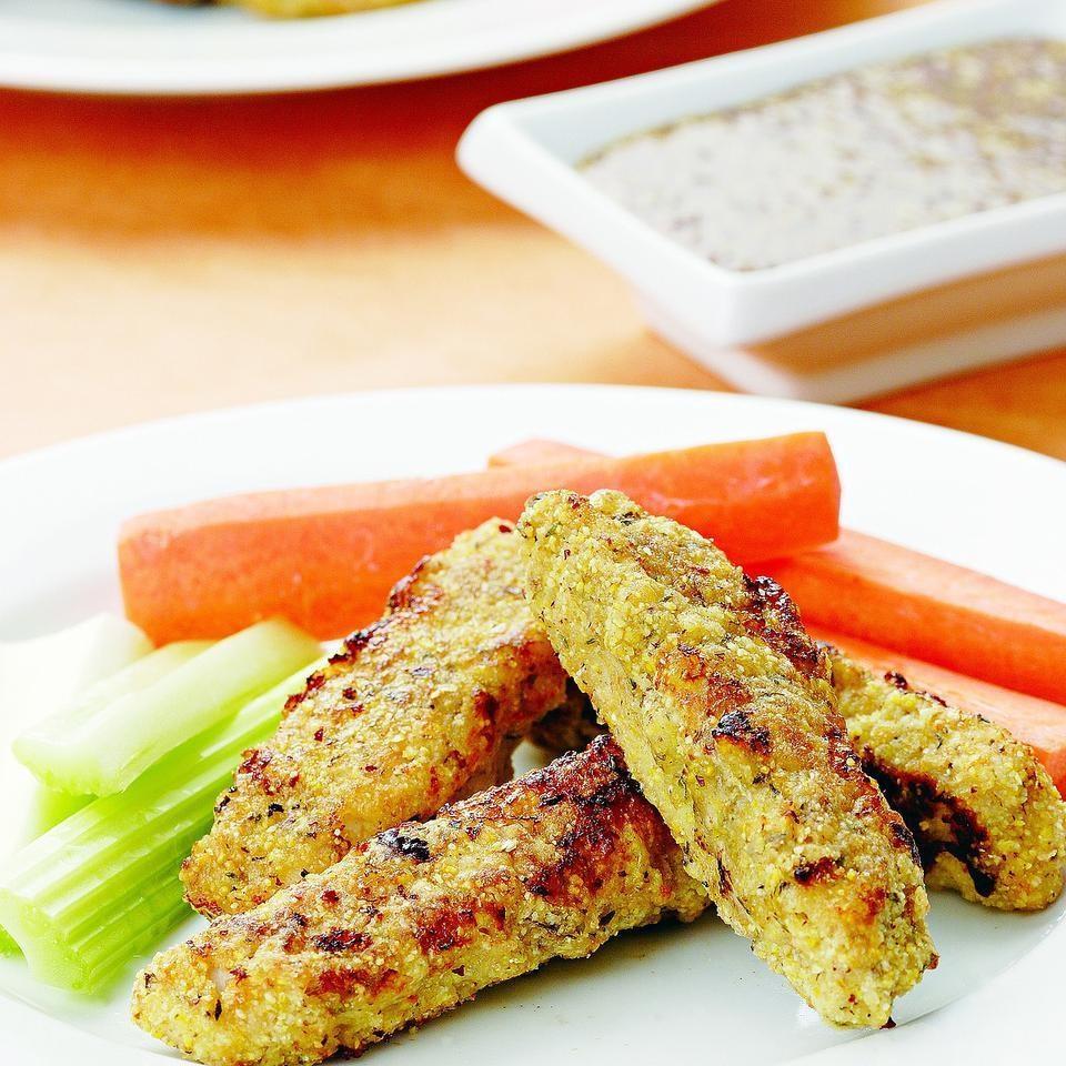 Turkey Fingers with Maple-Mustard Sauce