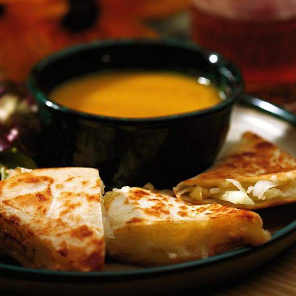 Apple, Sauerkraut & Cheddar Quesadillas