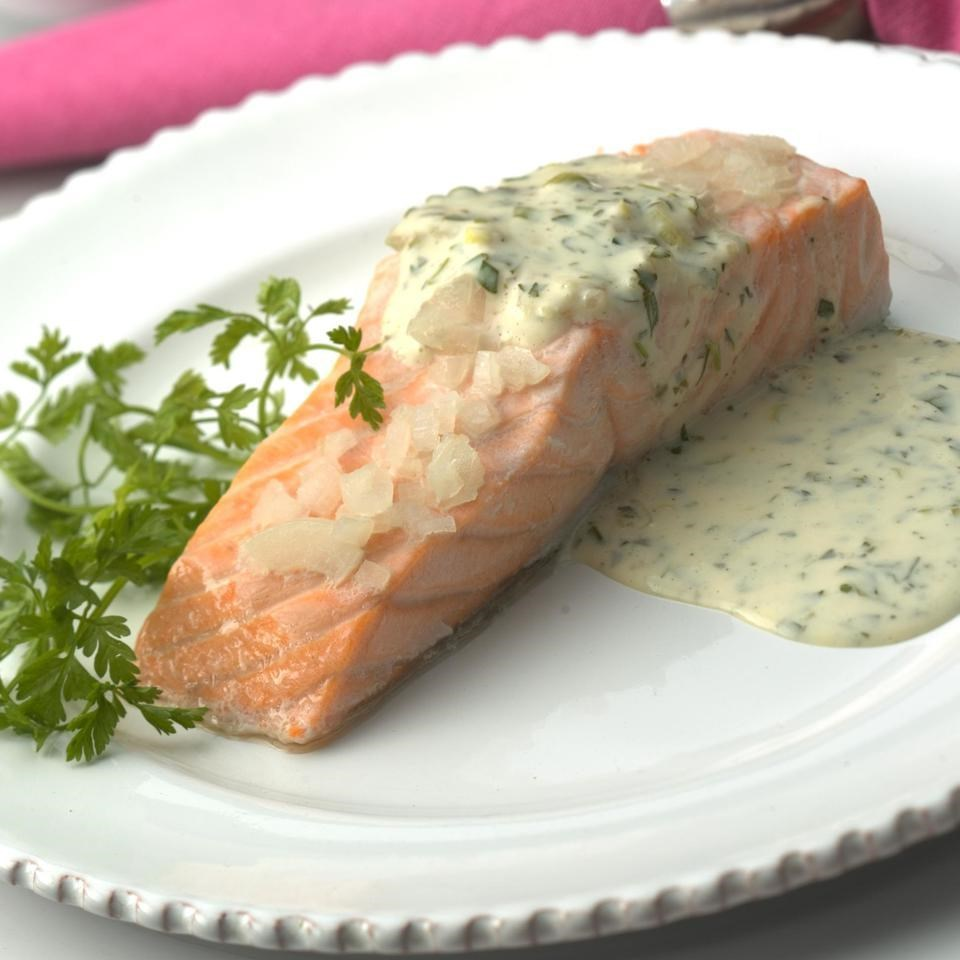 Oven Poached Salmon Fillets Recipe Eatingwell
