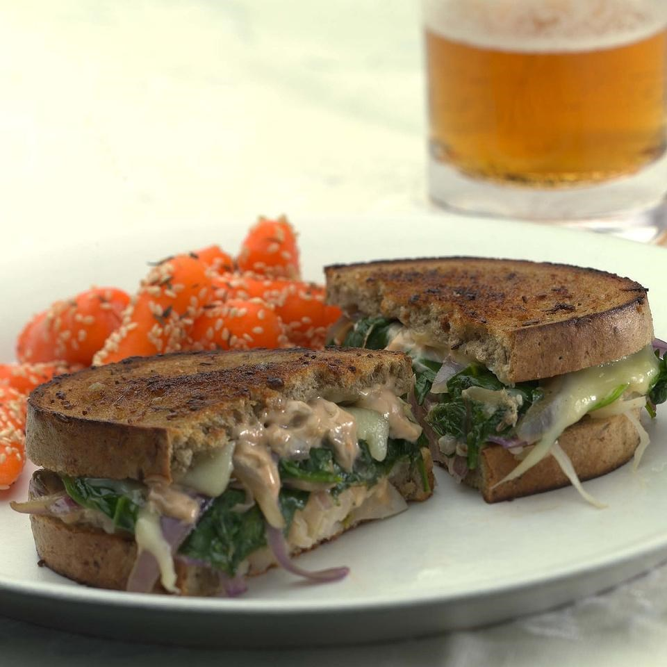 Vegetarian reubens with russian dressing recipe eatingwell vegetarian reubens with russian dressing forumfinder Image collections