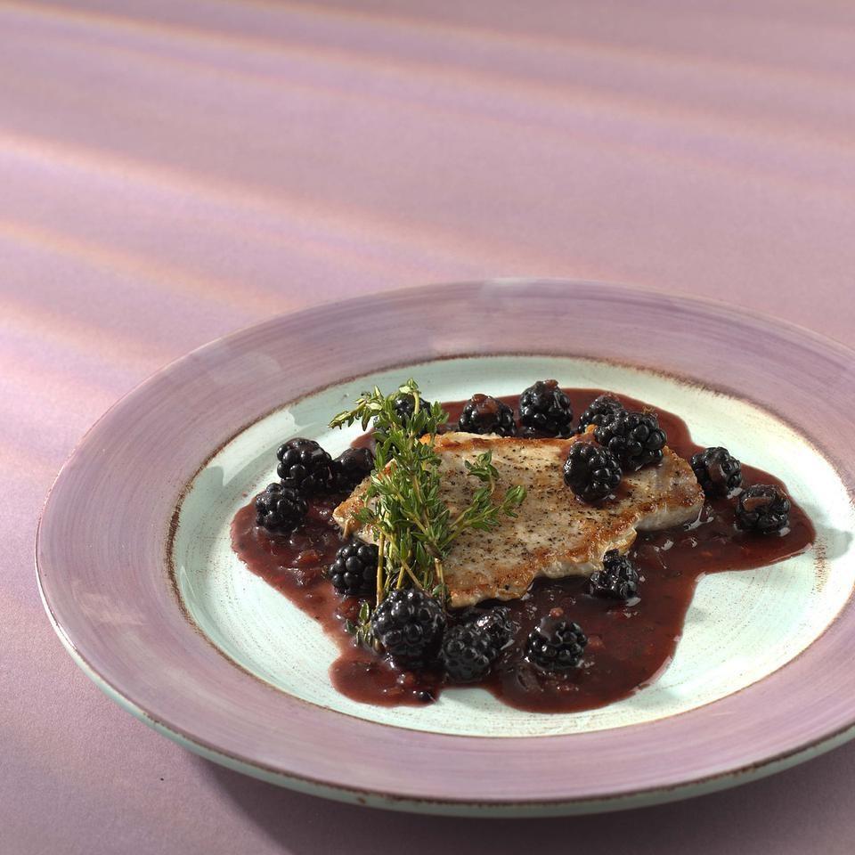 Quick Pork Saute with Blackberries