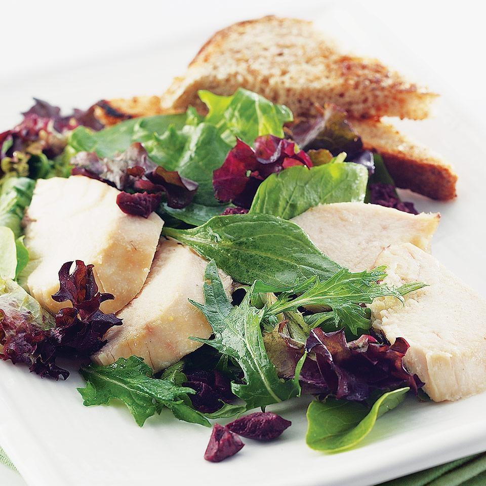 Roasted Chicken Salad with Garlic Toasts