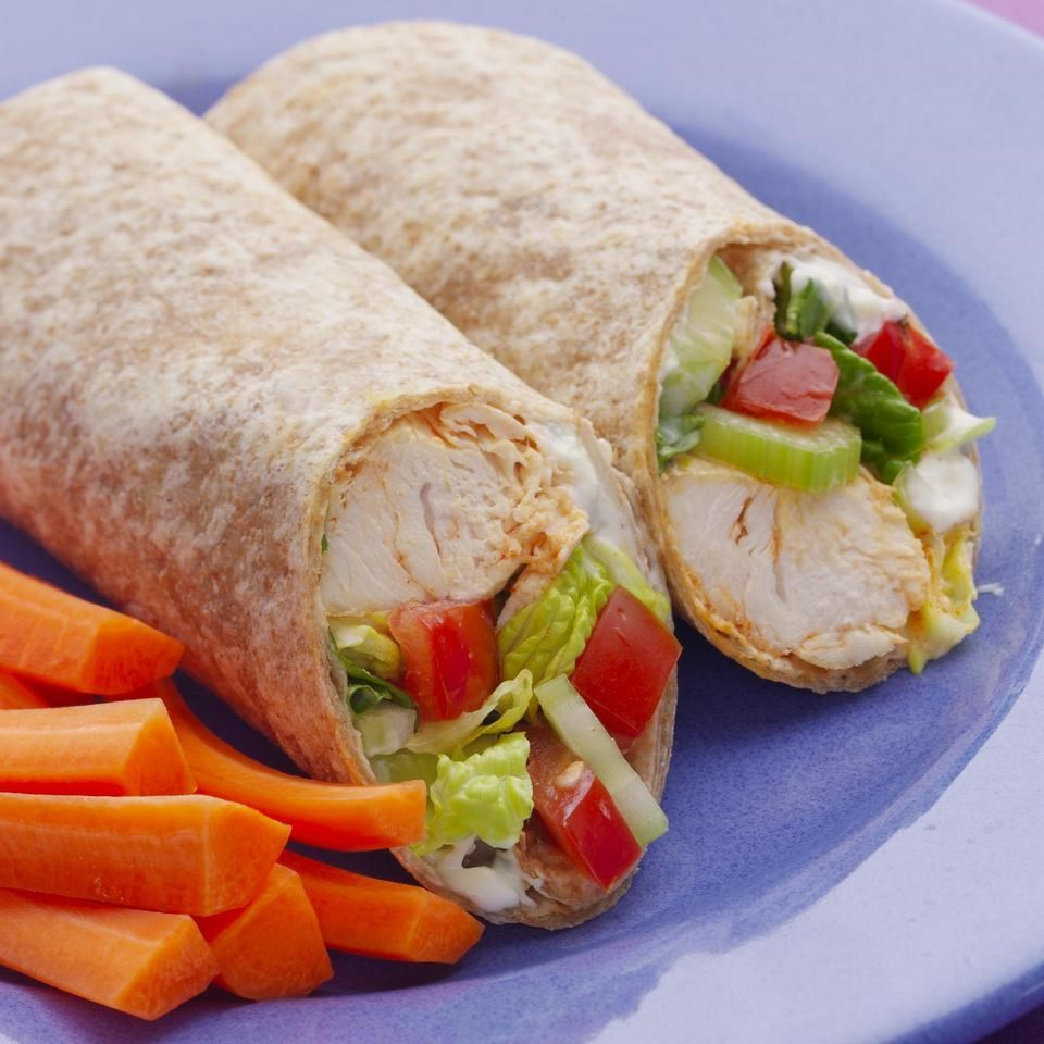 Buffalo Chicken Wrap Recipe - EatingWell