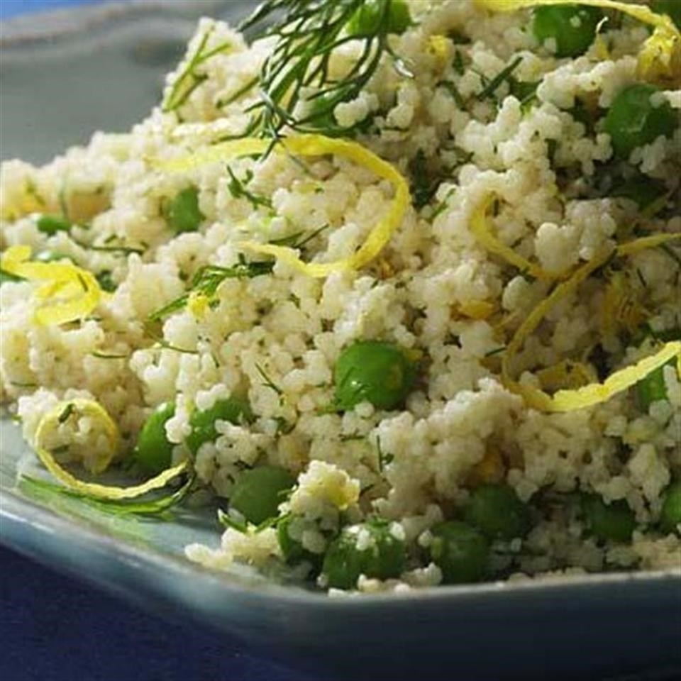 Whole wheat couscous with parmesan peas recipe eatingwell for Couscous food recipe