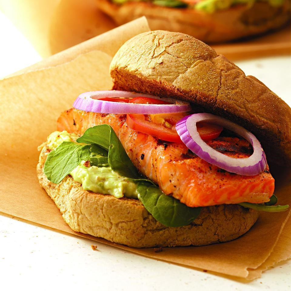 Blackened Salmon Sandwich on Home Plans With Open Kitchen