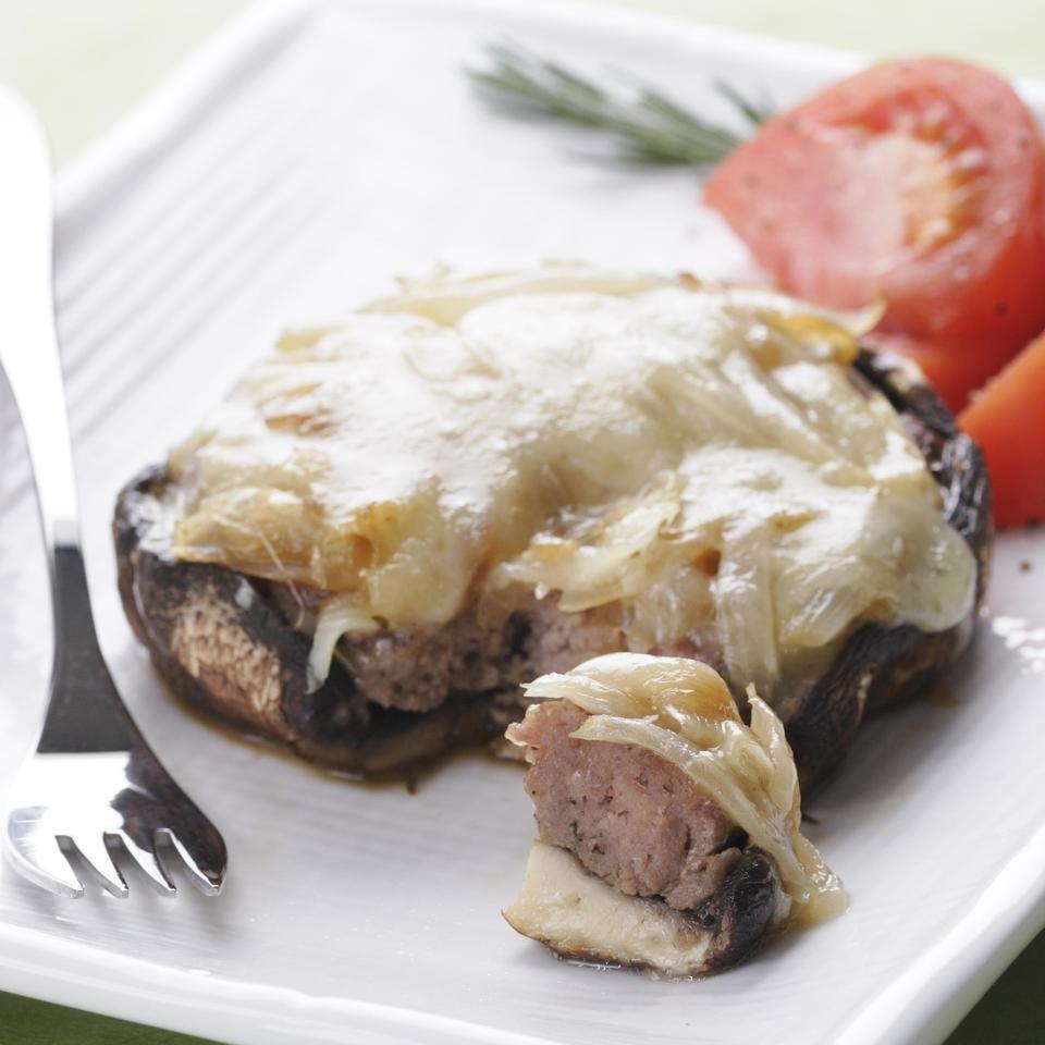 Turkey-Stuffed Portobello Mushrooms