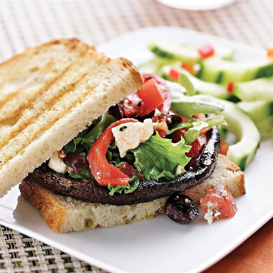 Quick easy mediterranean recipes eatingwell mediterranean portobello burger forumfinder Choice Image